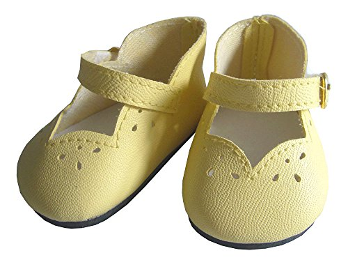 Easter Yellow Scallop Shoes for 18