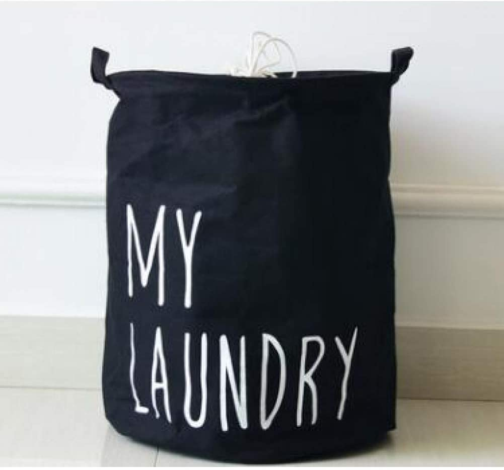BASKET Laundry Basket,Large Laundry Hamper Fold Waterproof of Clothes Storage Baskets Home Clothes Barrel Bags Kids Laundry Storage Barrels Large Capacity Folding, Environmentally Friendly Hamper,Bla