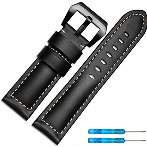 Price comparison product image Winhurn For Garmin Fenix 5X GPS Watch Replacement Luxury Leather Band Strap (B)