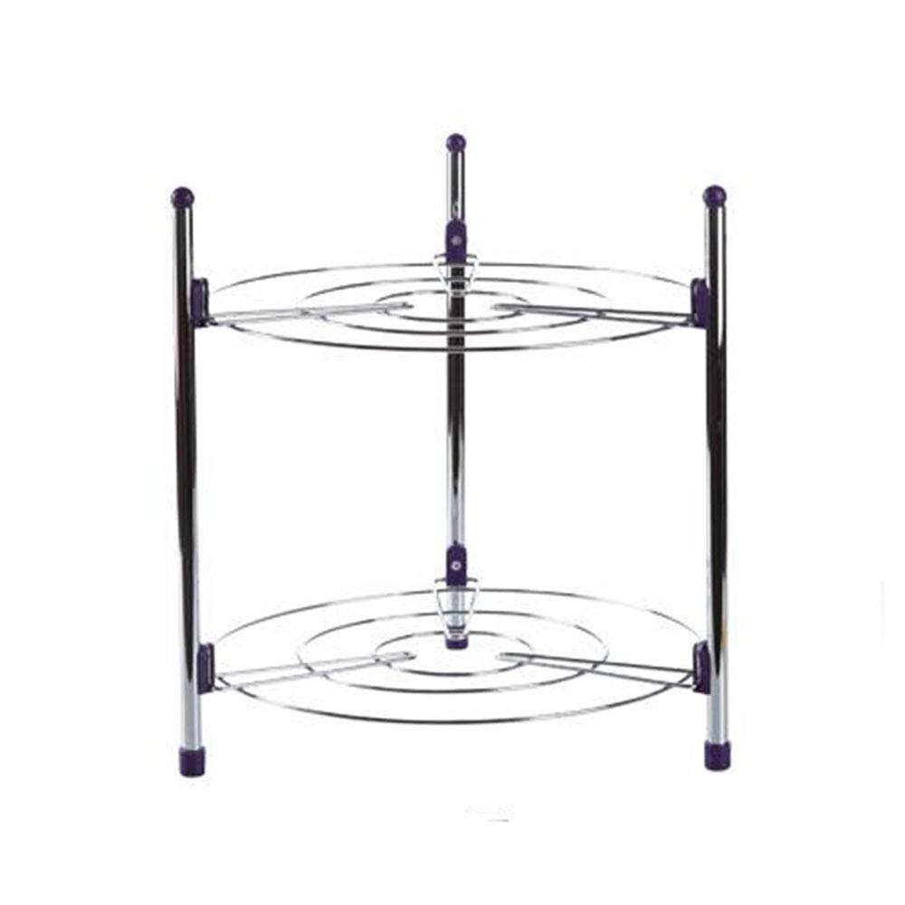 LIYANWBLJ Kitchen Shelf Put The Pot Rack Carbon Steel Buckle Design Multi-Layer Multifunction Stand