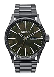 Nixon Men's A3562069 Sentry SS Analog Display Japanese Quartz Grey Watch