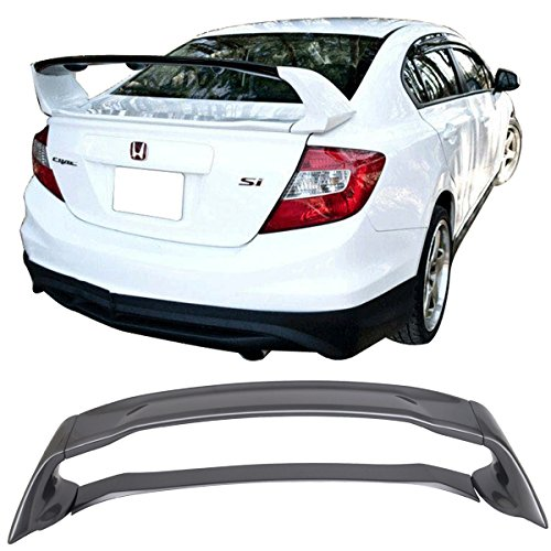 - Pre-painted Trunk Spoiler Fits 2012-2015 Honda Civic | ABS #NH797M Modern Steel Metallic Boot Lip Rear Spoiler Wing Deck Lid Other Color Available By IKON MOTORSPORTS | 2013 2014