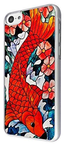 894 - stained glass koi Red Fish Design iphone 5C Coque Fashion Trend Case Coque Protection Cover plastique et métal