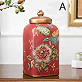 LXYFMS Porcelain Home Interior Ceramic Desktop Display Retro Storage Tank and Gateway for Two Sets of Equipment Crafts (Color : A)