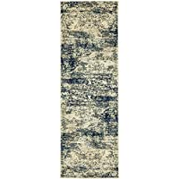 Unique Loom Ethereal Collection Navy Blue 2 x 6 Runner Area Rug (2 x 6)