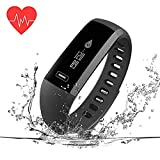Fitness Tracker, Activity Tracker Health Sports Watch with Heart Rate and Sleep Monitor, IP67 Waterproof Smart Bracelet Calorie Counter, Pedometer, Child Female and Male Pedometer Watch