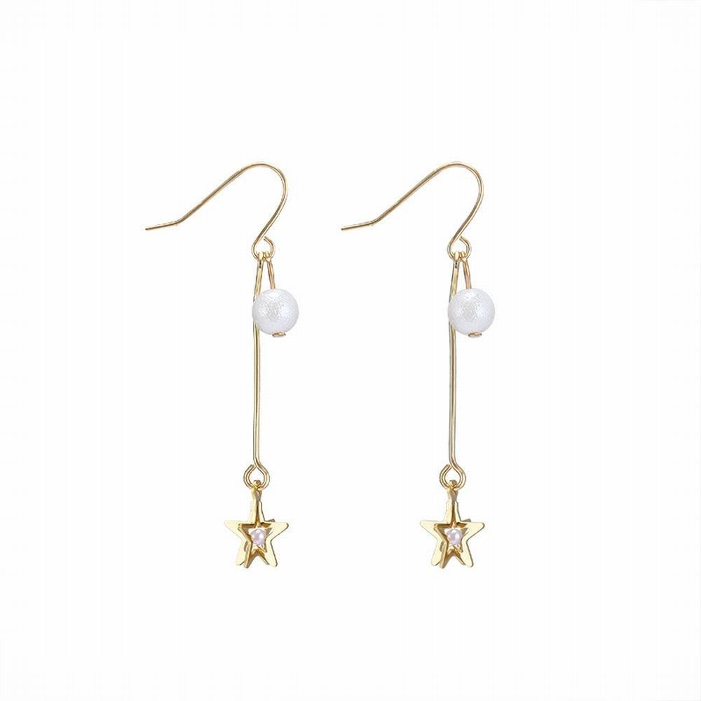 Ling Studs Earrings Hypoallergenic Cartilage Ear Piercing Simple Cotton Stereo Star Handmade Earrings