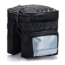 Ezyoutdoor Bike Bag Trail Work Lunch Cycling Gear Biking Storage bags Straps Road Trip for Fanny Pack for Biking Hiking Sports Trail Riding Mountain bicycle, Bicycle Rear Rack Seat Pannier Bag Waterproof with Rain Cover