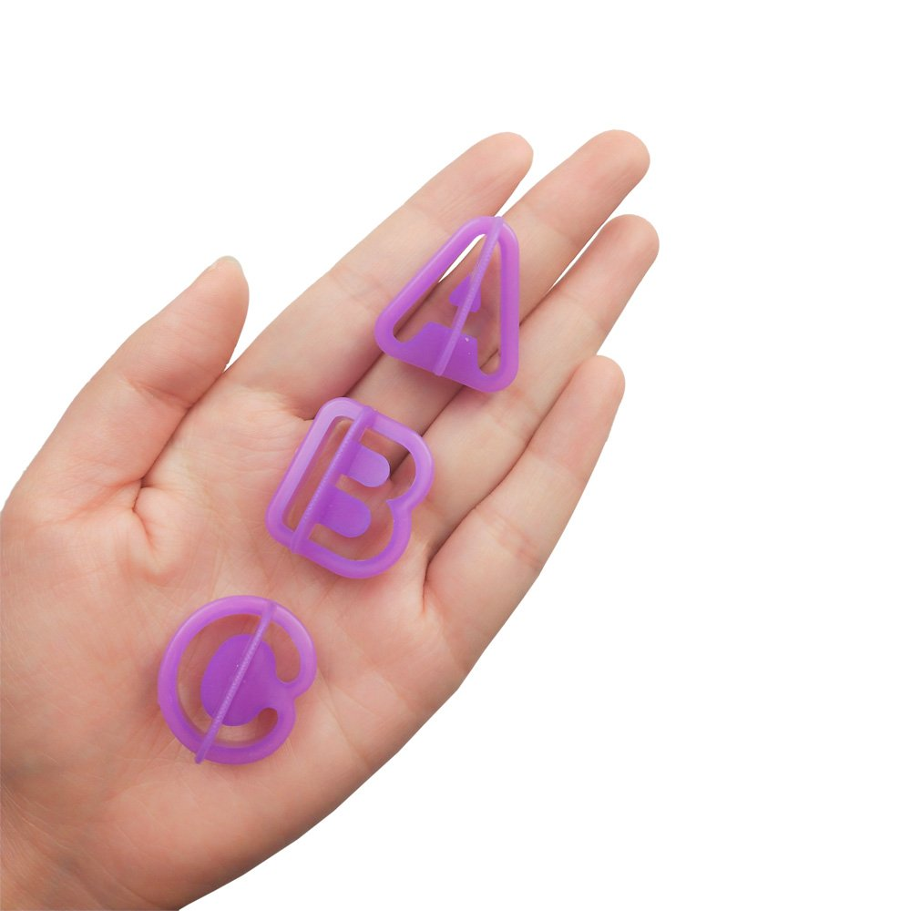 54PCS Plastic Alphabet Number Symbol Cookie Cutters and Mini Fondant Cake Decorating Mould Tools by CSPRING