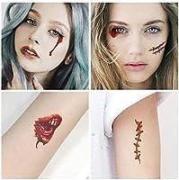 Halloween Zombie Tatuajes,ZoneYan Tatuajes de Zombies,Tatuaje de ...