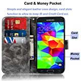 Zoeirc Galaxy S5 Case, Samsung S5 Wallet Case, PU