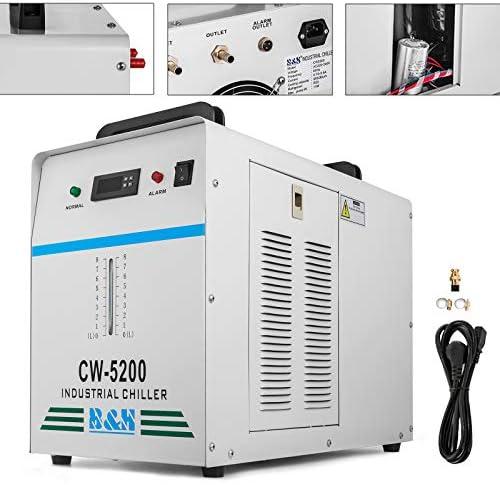 [해외]Happybuy Water Chiller CW5200DG 6L Capacity Thermolysis Industrial Water Chiller 1400W Cooling Industrial Chiller for 130 to 150W CO2 Glass Tube Energy Saving (6L CW5200) / Happybuy Water Chiller CW5200DG 6L Capacity Thermolysis In...