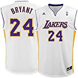 Kobe Bryant Los Angeles Lakers #24 NBA Youth Alternate Jersey White (Youth Large 14/16)