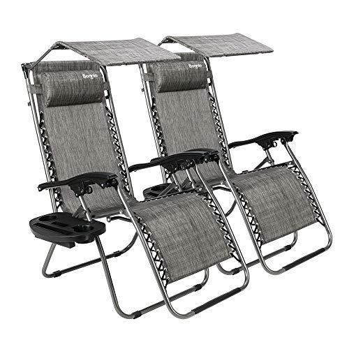 Amazon Com Bonnlo Zero Gravity Chair Set Of 2 With