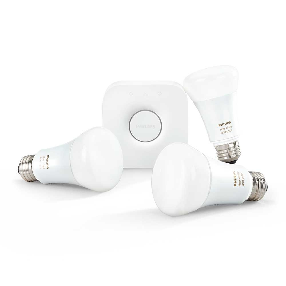 Philips Hue 464479 White and Color Ambiance A19 Starter Kit, 3rd Generation with Richer Colors, Works with Amazon Alexa (Certified Refurbished) by Philips (Image #2)