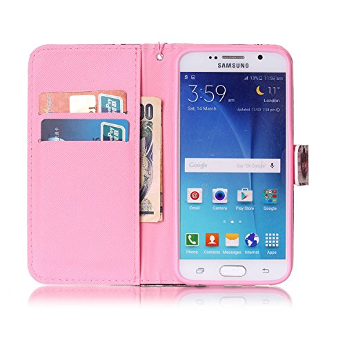 Para Smartphone Samsung Galaxy S6Funda Flip Cover Funda Piel [Tarjetero] funda piel cartera Executive Diseño + Polvo Conector negro 3 10