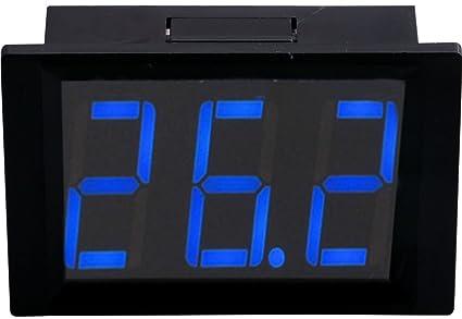 Yeeco XH-B312 Incrustado DC 10-14V Digital Termómetro Termostato Temperatura Panel Metro -