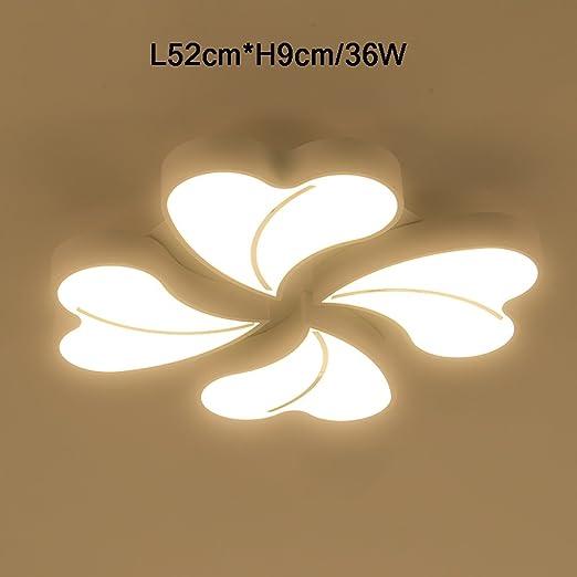 Techo Cdbl de Luz LED Techo Lámpara Cuatro de Hojas de NnO80kPwX