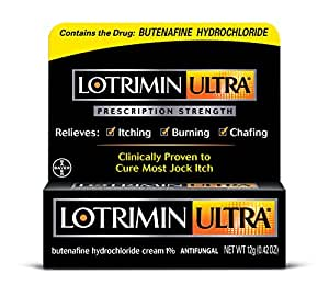 Lotrimin Ultra Antifungal Jock Itch Cream, Prescription Strength Butenafine  Hydrochloride 1%