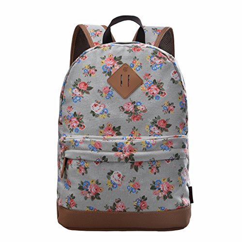 Douguyan Girl's Casual Lightweight Print Backpack Cute School Bag Campus Satchel Powder Blue 133b