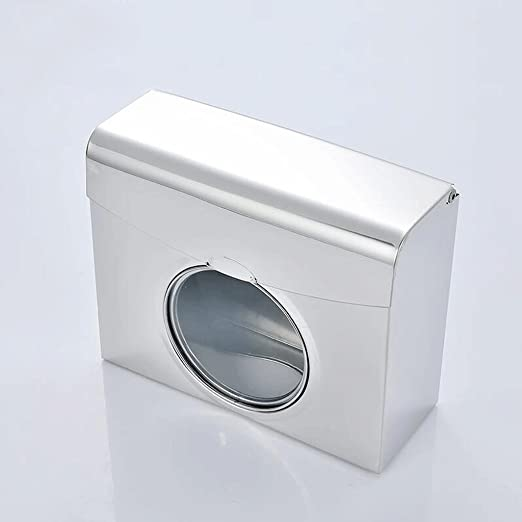 caja de pañuelos Impermeable toallitas de Acero Inoxidable Toalla Caja de baño Pared - montado Toalla de Papel Titular de Papel higiénico Toalla Marco de Bombeo ...