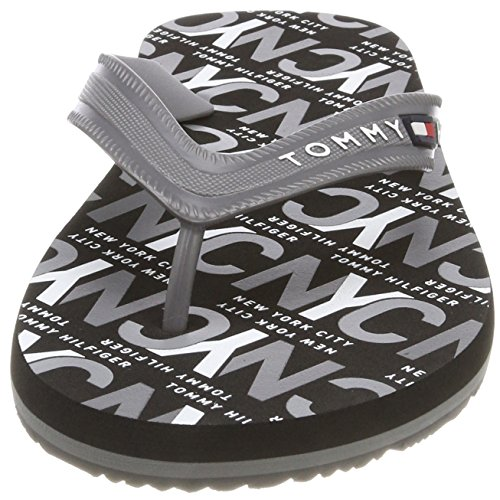 Steel Grey Hilfiger Homme Gris Tongs Tommy City 039 Print Sandal Beach 8HOqp1w