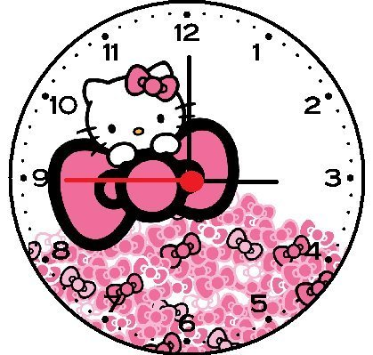 Hello Kitty Bows Wall Clock