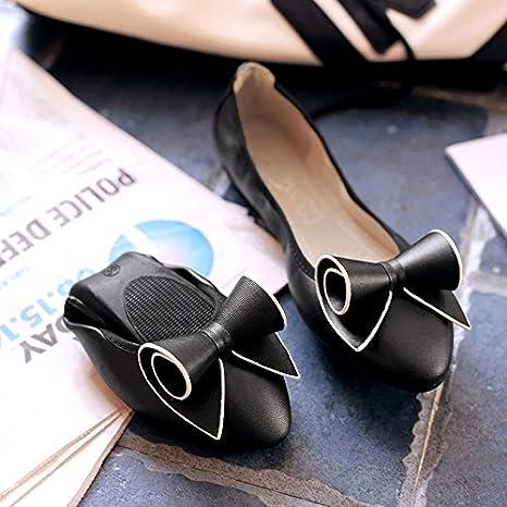 gaolim omeletts Chaussures Chaussures Fond Plat Tip doux sol einzelne Chaussures Femmes enceintes noire chaussures femmes bande Chaussures XS Das Gold 6FaXLV