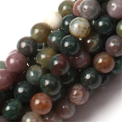 Natural Round Indian Agate Gemstone Loose Beads In Bulk Beads For Jewelry Making Wholesale Beads Handmade DIY One Strand 15