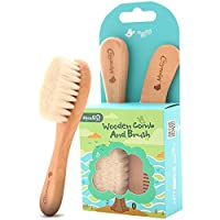 Baby Goat Hair Brush and Comb Set for Newborns & Toddlers | Eco-Friendly Safe...