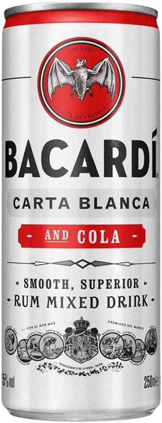 Bacardi Cola Lata 24x25cl 5% - CAJA 24 LATAS: Amazon.es ...