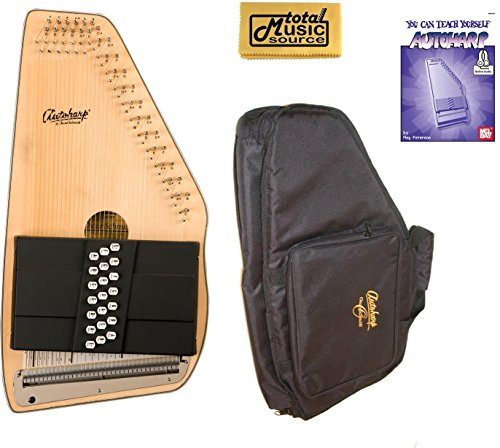 Oscar Schmidt 21 Chord Autoharp, Solid Spruce Top, Mahg Back, OS10021 AC445PACK by Oscar Schmidt