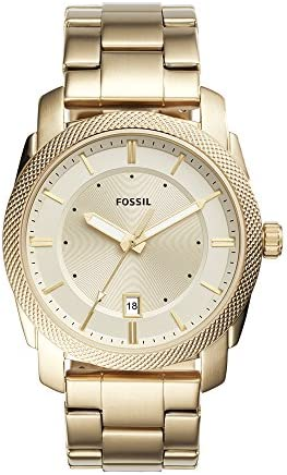 Fossil Men s FS5264 Machine Three-Hand Date Gold-Tone Stainless Steel Watch