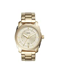 Fossil Men's FS5264 Machine Three-Hand Date Gold-Tone Stainless Steel Watch
