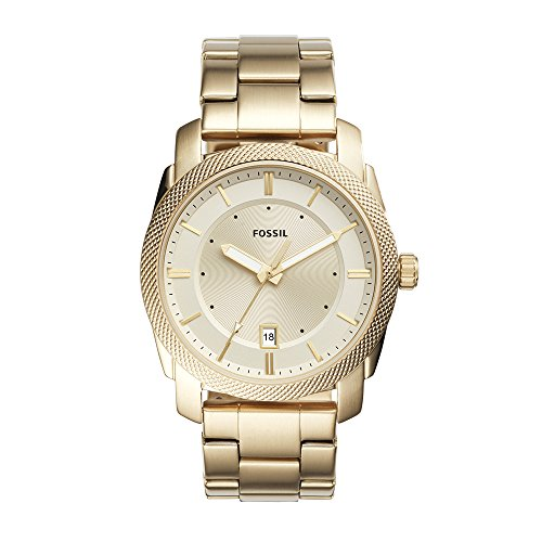 Fossil Men's FS5264 Machine Three-Hand Date Gold-Tone Stainless Steel (Mens Fossil Casual Watch)