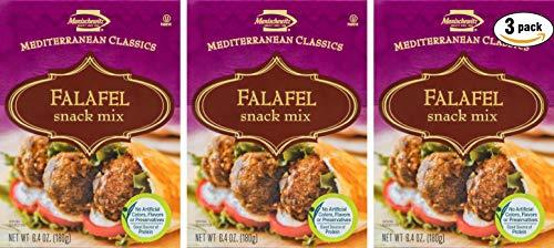 (Manischewitz Mediterranean Classics Falafel Snack Mix 6.4 OZ. (Pack of 3, Total of 16.2 Oz))