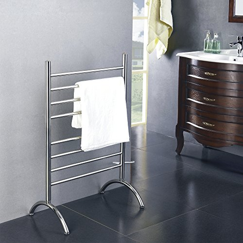 [해외]WarmlyYours Barcelona Towel Warmer - 프리 스탠딩 - 스마트 Wi-Fi 스위치 사용/WarmlyYours Barcelona Towel Warmer - Free Standing - with Smart Wi-Fi Switch