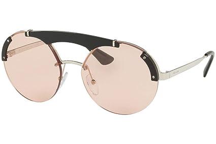 Amazon.com: Prada pr52us anteojos de sol plata negro w/rosa ...