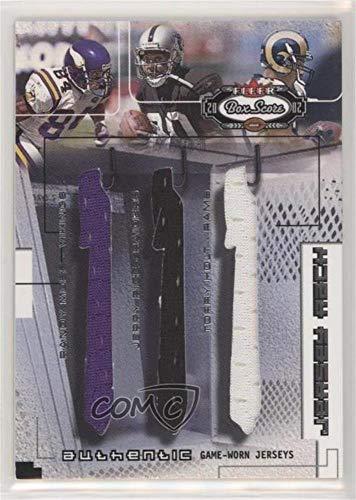 Randy Moss; Jerry Rice; Torry Holt #89/300 (Football Card) 2002 Fleer Box Score - Jersey Rack Triples #N/A
