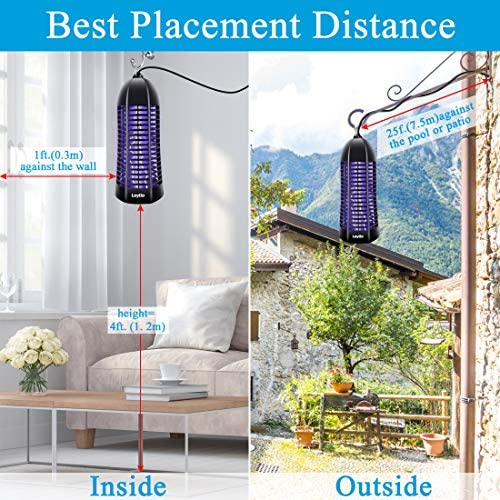 ZAAPTOL Bug Zapper & Attractant – Electric Mosquito Zappers/Killer – Insect Fly Trap, Waterproof Outdoor/Indoor – Electronic Light Bulb Lamp for Backyard, Patio 51qWnrMTG5L