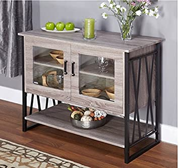 Amazon.com : Buffet Storage Cabinet in Reclaimed Wood Distressed ...