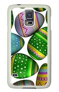 Custom Samsung Galaxy S5 Case,Color Egg TPU White Samsung Galaxy S5 Cases