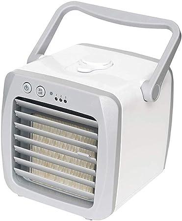 NBWS Mini Enfriador de Aire, Aire Acondicionado Portátil con Filtro de Repuesto y Molde de Hielo, USB Air Cooler Ventilador, Purificador y Humidificador para Hogar, Oficina, Viajes Aire Libre: Amazon.es: Hogar