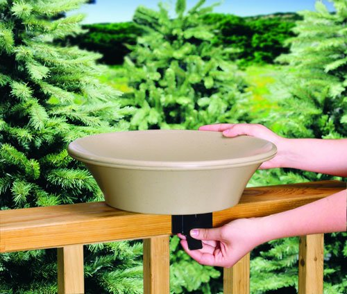 Allied Precision 14 in. Non-Heated Bird Bath (Heated Birdbath Deck)