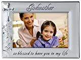 Malden International Designs Godmother with Cross Picture Frame, 4x6, Silver