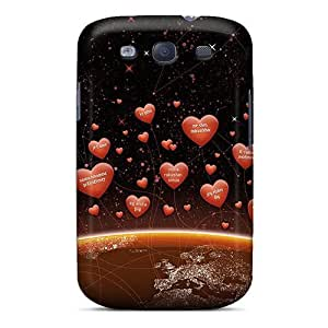 High Grade Wade-cases Flexible Tpu Case For Galaxy S3 - I Love You In Any Language