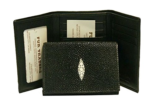 fold Black Natural Wallet Unixex Natural in Tri Stingray Black q8E6UxZ7nw