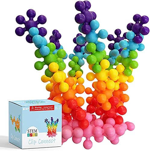 AWESOME CHOICE 100 Piece Interlocking Plastic Building Set for Kids Lab Test Approved with Atc Certificate