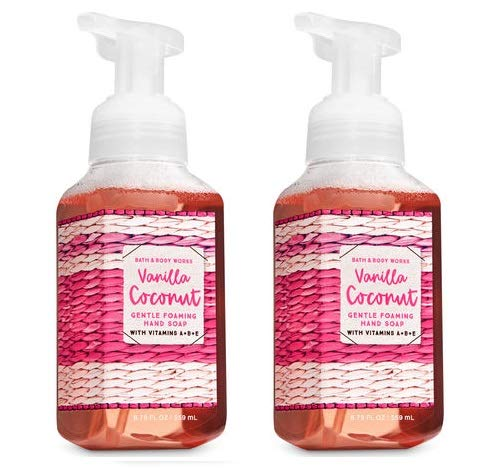 Bath and Body Works Gentle Foaming Hand Soap, Vanilla Coconut 8.75 Ounce (2-Pack) - Gentle Foaming Hand Soap