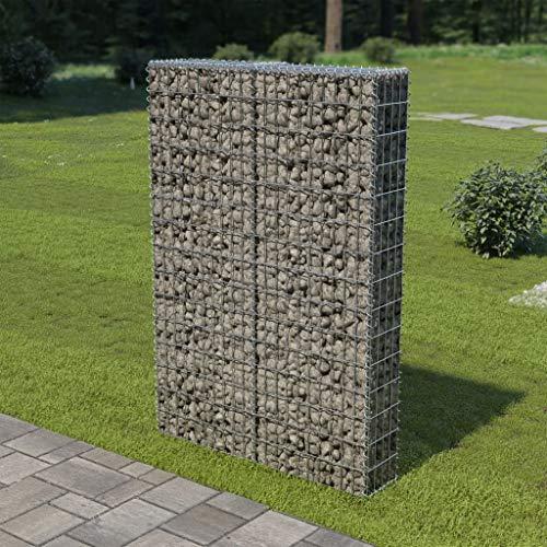 "Tidyard Outdoor Gabion Wall Fence Stone Basket Galvanized Steel 39.4""x7.87""x59"""